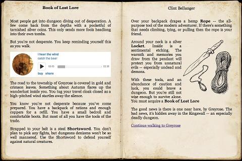 Book of Lost Lore screenshot