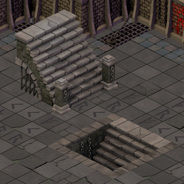 Dungeon Stairs rendering