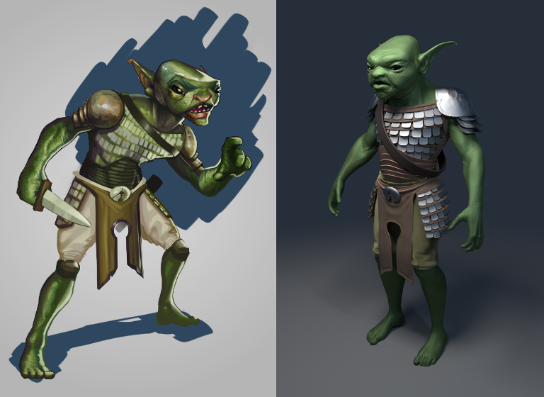 Goblin concept and 3D render