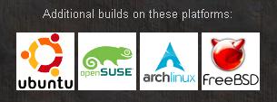 Ubuntu, openSUSE, archlinux, FreeBSD