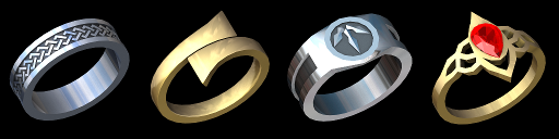 four rings preview render